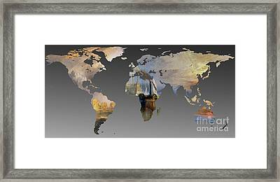 World Map  Joseph Turner 3 Framed Print by John Clark
