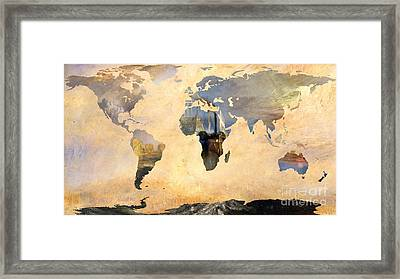 World Map   Joseph Turner 4 Framed Print by John Clark