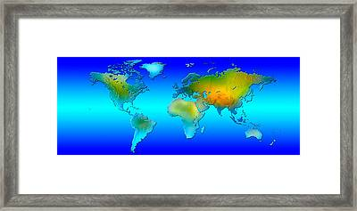 World Map Framed Print by Panoramic Images