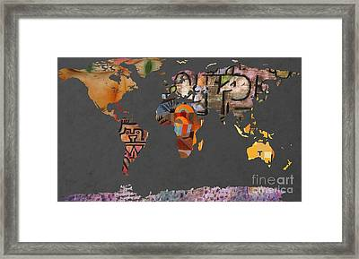 Paul Klee 1  World Map Framed Print by John Clark