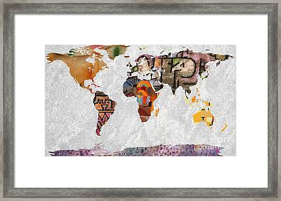 World Map  Paul Klee 2 Framed Print by John Clark