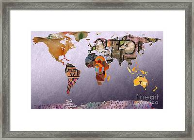 World Map  Paul Klee 4 Framed Print by John Clark
