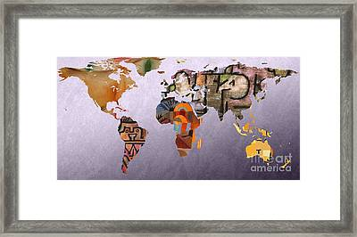 World Map  Paul Klee 5 Framed Print by John Clark
