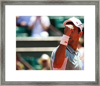 World Number One Novak Djokovic  Framed Print by Srdjan Petrovic