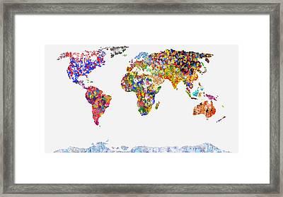 World Of Colour On White Framed Print