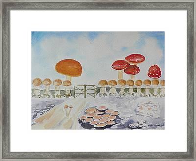 World Of Mushroom  Framed Print