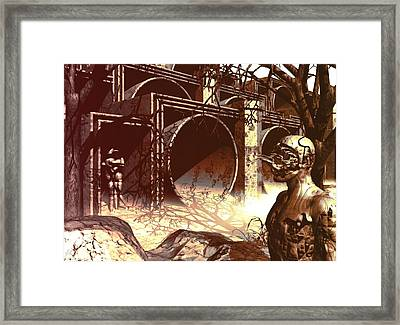 Framed Print featuring the digital art World Of Ruin by John Alexander