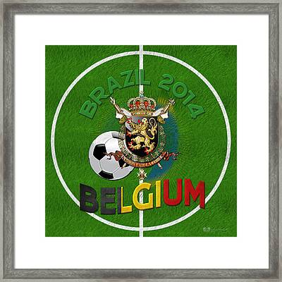 World Of Soccer 2014 - Belgium Framed Print by Serge Averbukh