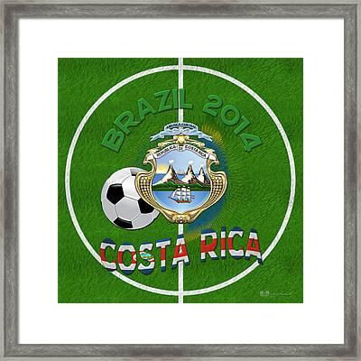 World Of Soccer 2014 - Costa Rica Framed Print