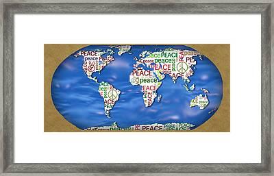World Peace Framed Print by Chris Goulette