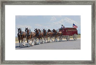 World Renown Clydesdales 2 Framed Print by Kae Cheatham