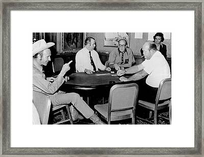 World Series Of Poker Framed Print by Underwood Archives