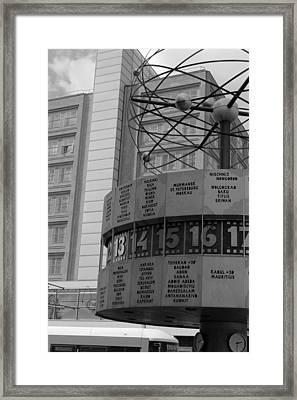 World Time Clock Berlin Framed Print by Steve K
