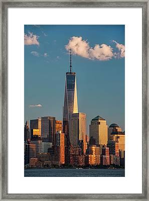 World Trade Center And Lower Manhattan Framed Print