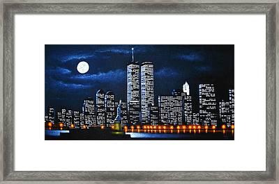 World Trade Center Buildings Framed Print