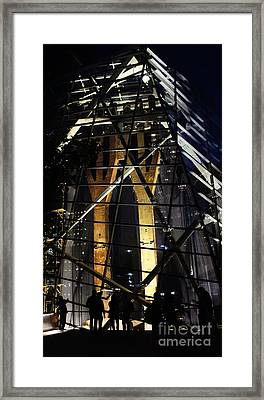 World Trade Center Museum At Night Framed Print