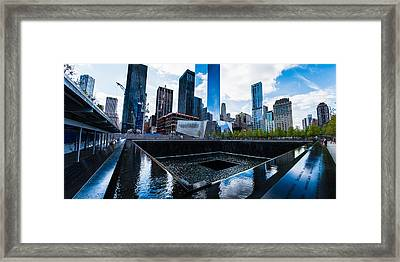World Trade Center - North Memorial Pool Framed Print