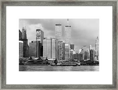 New York City - World Trade Center - Vintage Framed Print