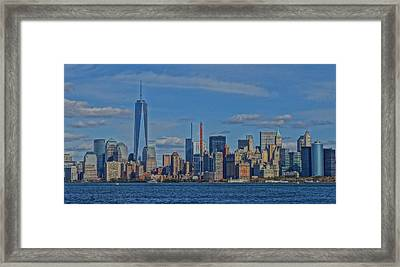 World Trade Center Painting Framed Print by Dan Sproul