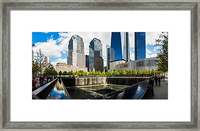 World Trade Center - South Memorial Pool Framed Print