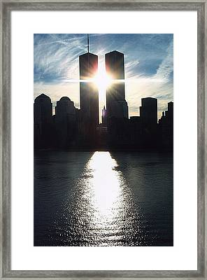 World Trade Center Towers Framed Print