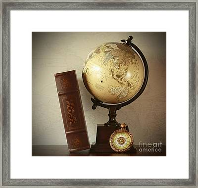World Travel And Vintage Moments Framed Print by Inspired Nature Photography Fine Art Photography