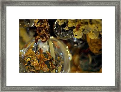 World Upside Down Framed Print by Money Sharma