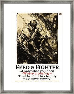 World War 1 - U. S. War Poster Framed Print by Daniel Hagerman