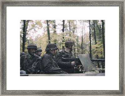 World War 2 German Patrol In A Sd.kfz. 251  Framed Print