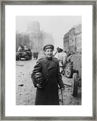 World War 2, Battle Of Berlin, April Framed Print by Everett