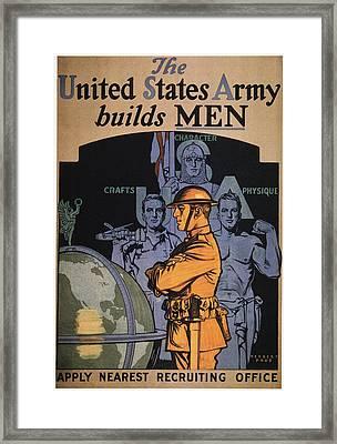 World War I Army Poster Framed Print by Granger