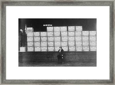 World War I Cigarette Shipment Framed Print by Library Of Congress