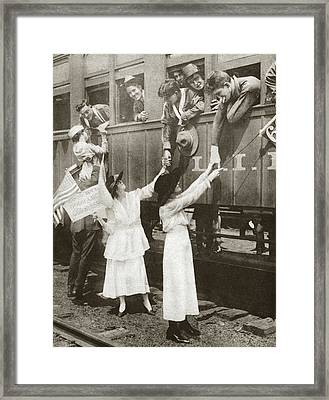 World War I Farewell, 1918 Framed Print