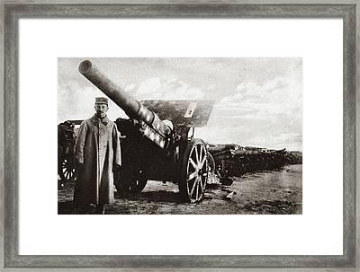 World War I Heavy Gun Framed Print