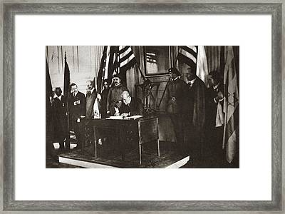World War I Independence Framed Print by Granger