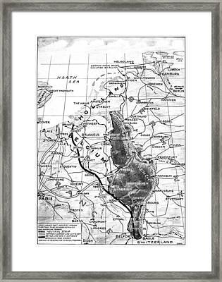 World War I Map, C1918 Framed Print