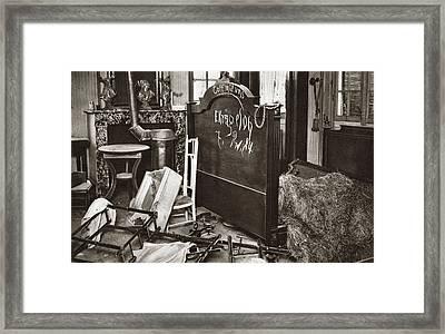World War I Room Pillaged Framed Print