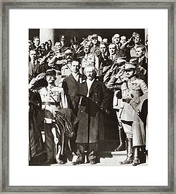 World War I Saluting Framed Print by Granger