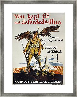 World War I Vd Poster Framed Print by Granger