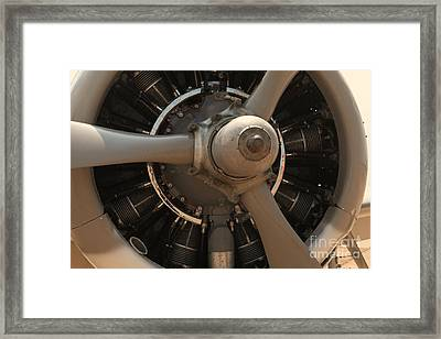 World War II Airplene Engine Framed Print