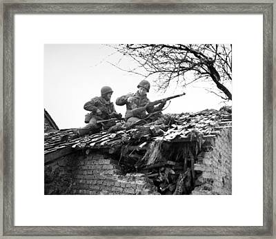 World War II: Belgium Framed Print