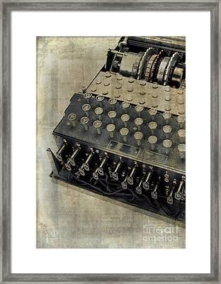 World War II Enigma Secret Code Machine Framed Print by Edward Fielding