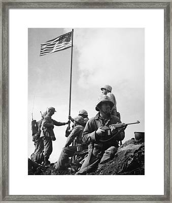 World War II: Iwo Jima Framed Print