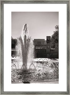 World War II Memorial Fountain Framed Print by Olivier Le Queinec