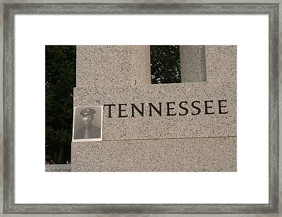 World War II Memorial - Washington Dc - 011310 Framed Print