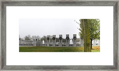 World War II Memorial - Washington Dc - 011325 Framed Print by DC Photographer