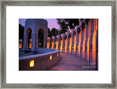 Framed Print featuring the photograph World War II Memorial Washington Dc by John S