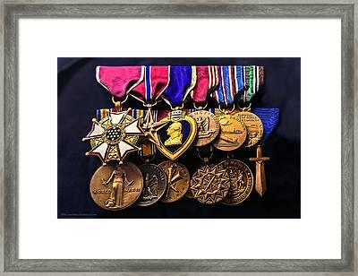 World War II Metals Of Honor Framed Print by LeeAnn McLaneGoetz McLaneGoetzStudioLLCcom