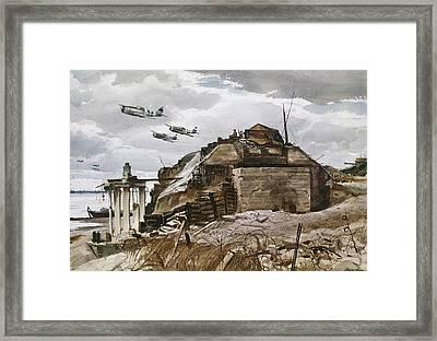 World War II: Normandy Framed Print by Granger