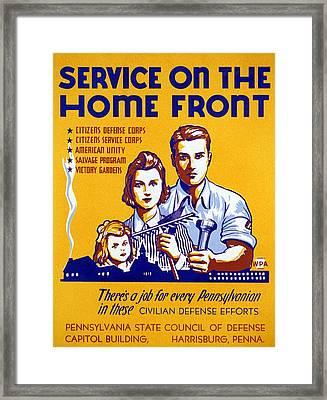 World War II Poster, C1943 Framed Print by Granger